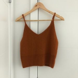 Tops - NWT Copper Soft Fuzzy Cami XS/S